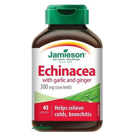 Echinacea s česnekem a zázvorem 45 kps.