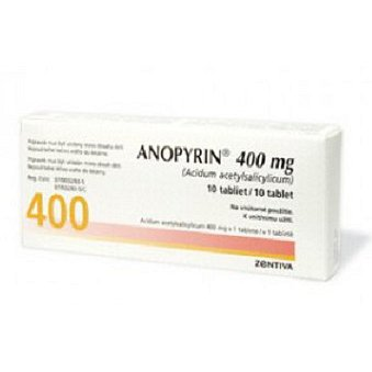 Anopyrin 400 mg tablety 10 x 400 mg