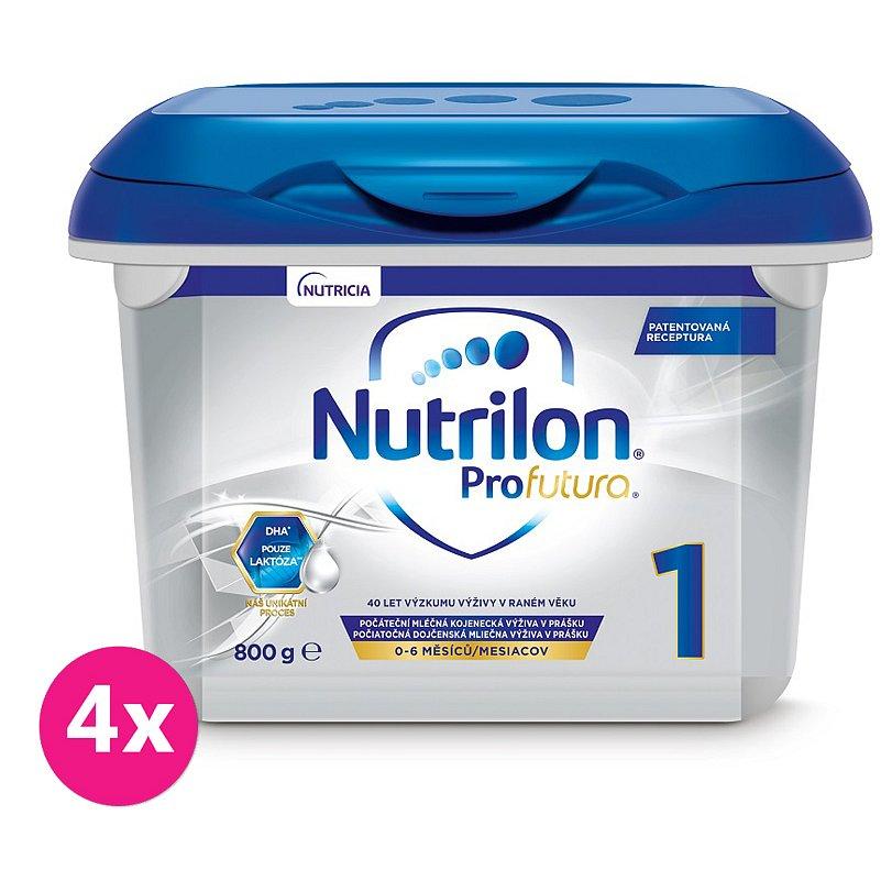4x NUTRILON 1 Profutura (800 g) - počáteční kojenecké mléko od narození