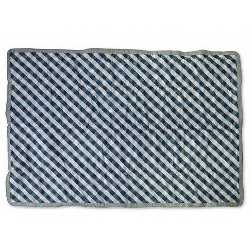 Hrací deka outdoorová 150x210cm Navy Gingham