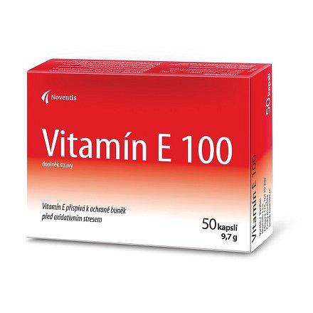 Vitamín E 100 mg orální tobolky 50 blistr