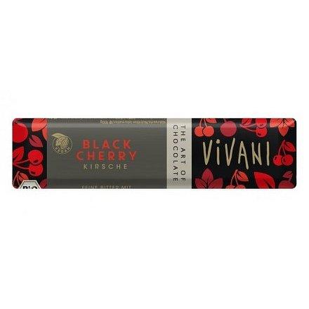 Čokoládová tyčinka hořká s višněmi VIVANI 35g - BIO