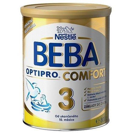 NESTLÉ Beba OPTIPRO Comfort 3, mléčná kojenecká výživa, 800g