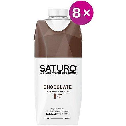 SATURO Chocolate 8x 330ml
