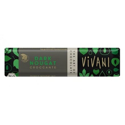 Čokoládová tyčinka nugátová tmavá VIVANI 35g - BIO
