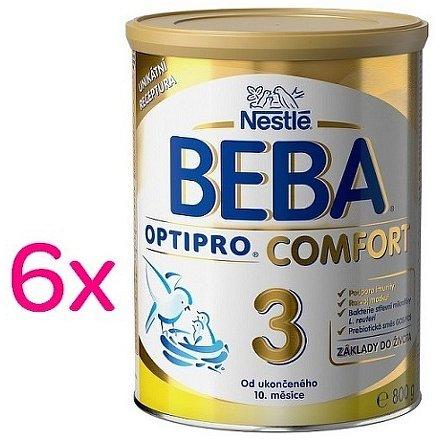 NESTLÉ Beba OPTIPRO Comfort 3, mléčná kojenecká výživa, 6x800g