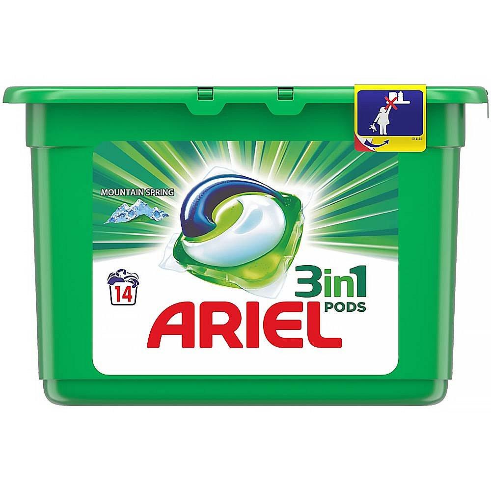 ARIEL Mountain Spring kapsle na praní prádla 3v1 14 praní
