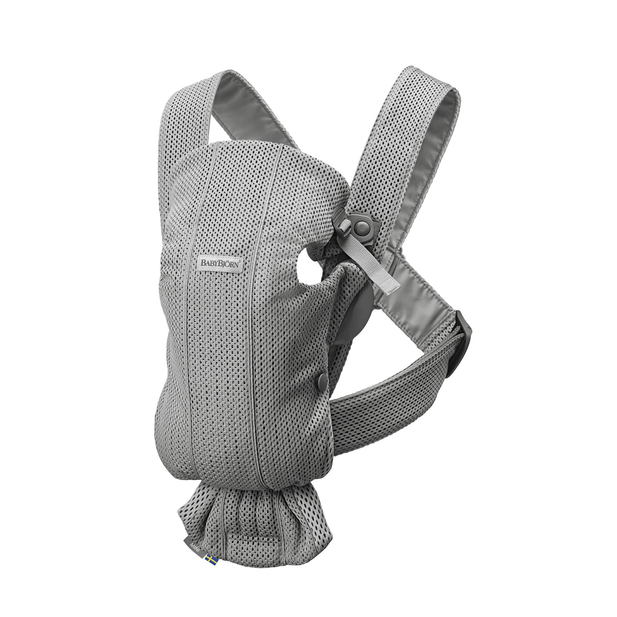 BabyBjörn Nosítko Mini Grey 3D Mesh šedé