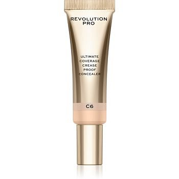 Revolution PRO Ultimate Coverage Crease Proof Concealer korektor s kyselinou hyaluronovou odstín C6 12 ml