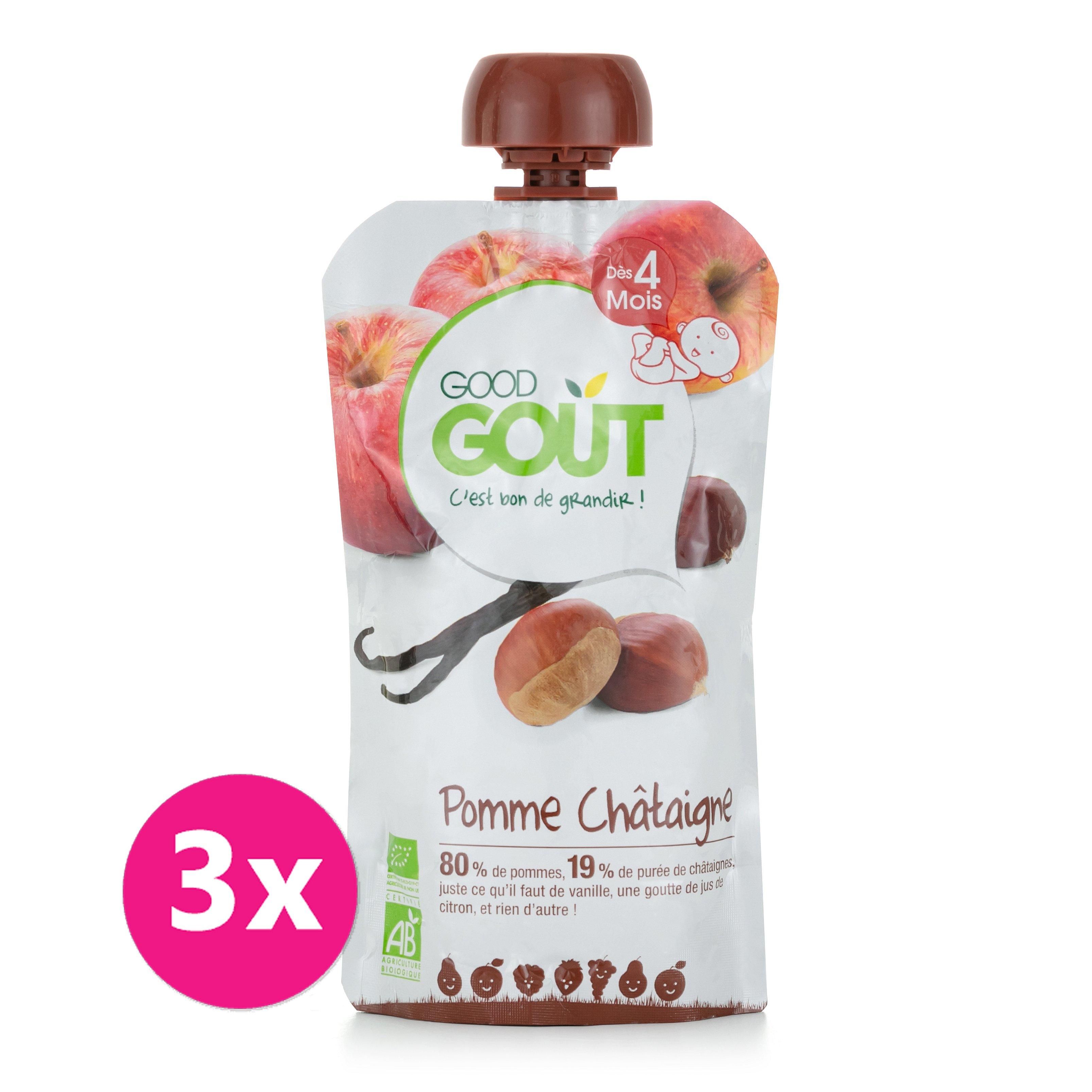 3x GOOD GOUT Jablko s kaštanem a vanilkou 120 g