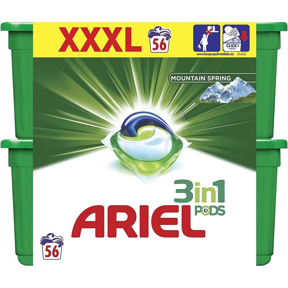 ARIEL Mountain Spring Kapsle na praní 3v1 56 dávek