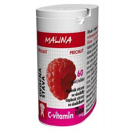 C-Vitamin 100 mg - Malina se sukralózou tablety 60
