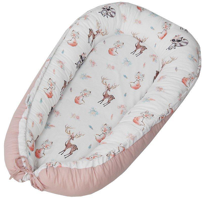 EKO Hnízdo pro miminko bavlněné Fawns 90x60 cm