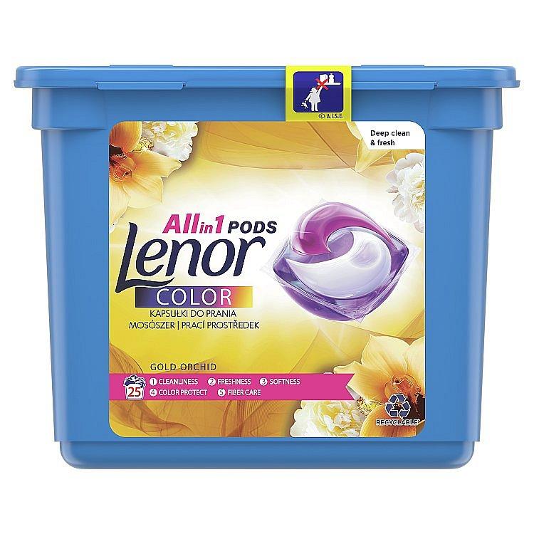 Lenor Allin1 PODs Gold Orchid Kapsle Na Praní 25 Praní