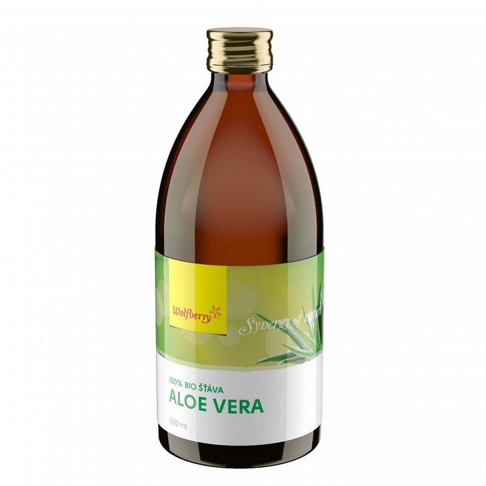 Wolfberry Aloe vera šťáva 100% BIO 500 ml