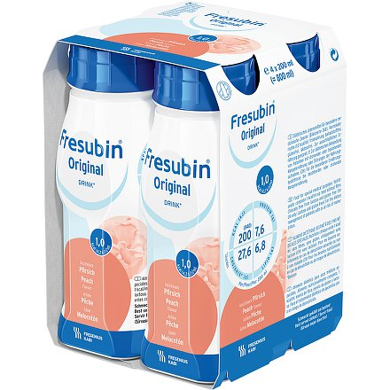Fresubin original s broskv.přích.perorální roztok  4 x 200 ml