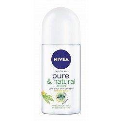 Nivea Kuličkový Deo Pure&Natural Jasmín deodorant 50 ml