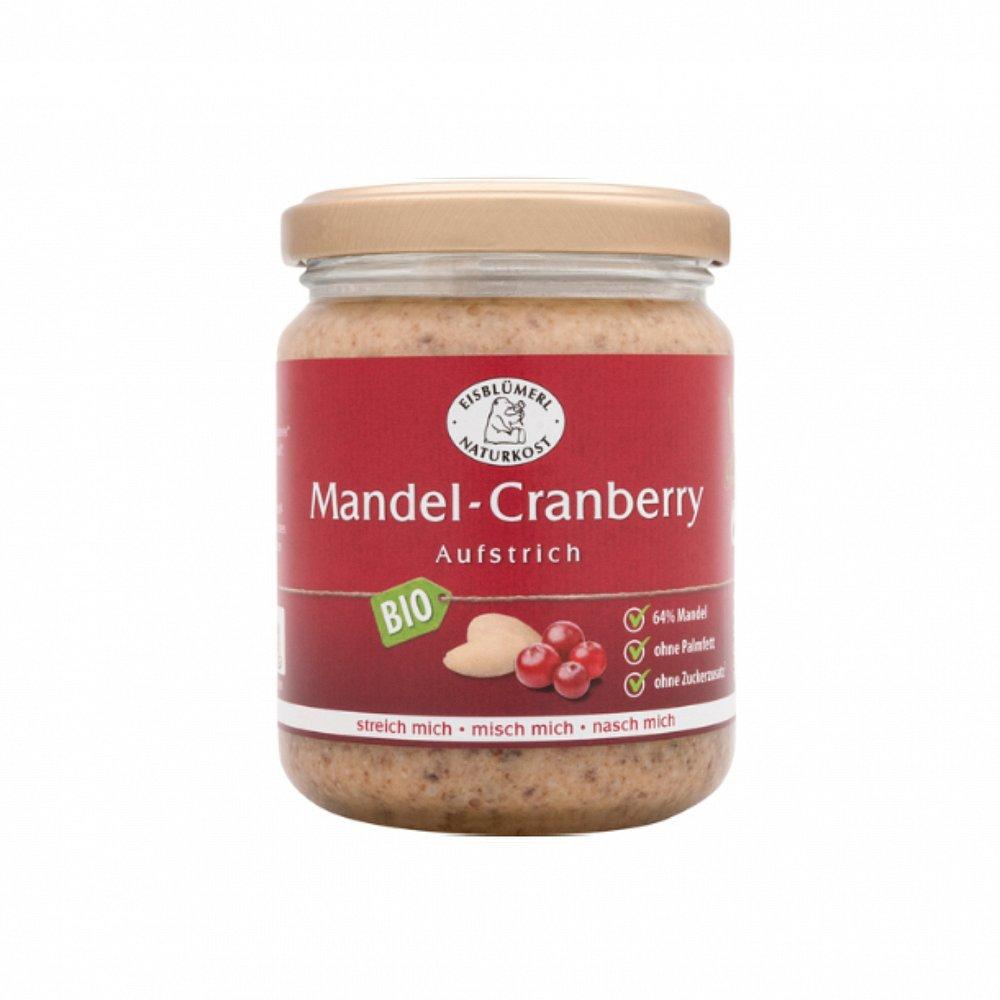 Krém z mandlí pražený s brusinkami bio 250 g eisblumerl