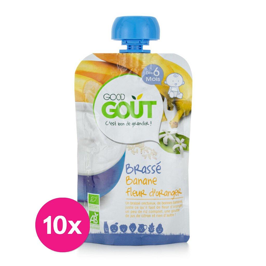 10x GOOD GOUT BIO Banánový jogurt s pomerančovým květem 90 g