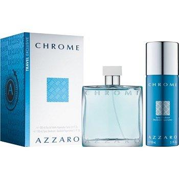 Azzaro Chrome dárková sada IX. toaletní voda 100 ml + deodorant ve spreji 150 ml