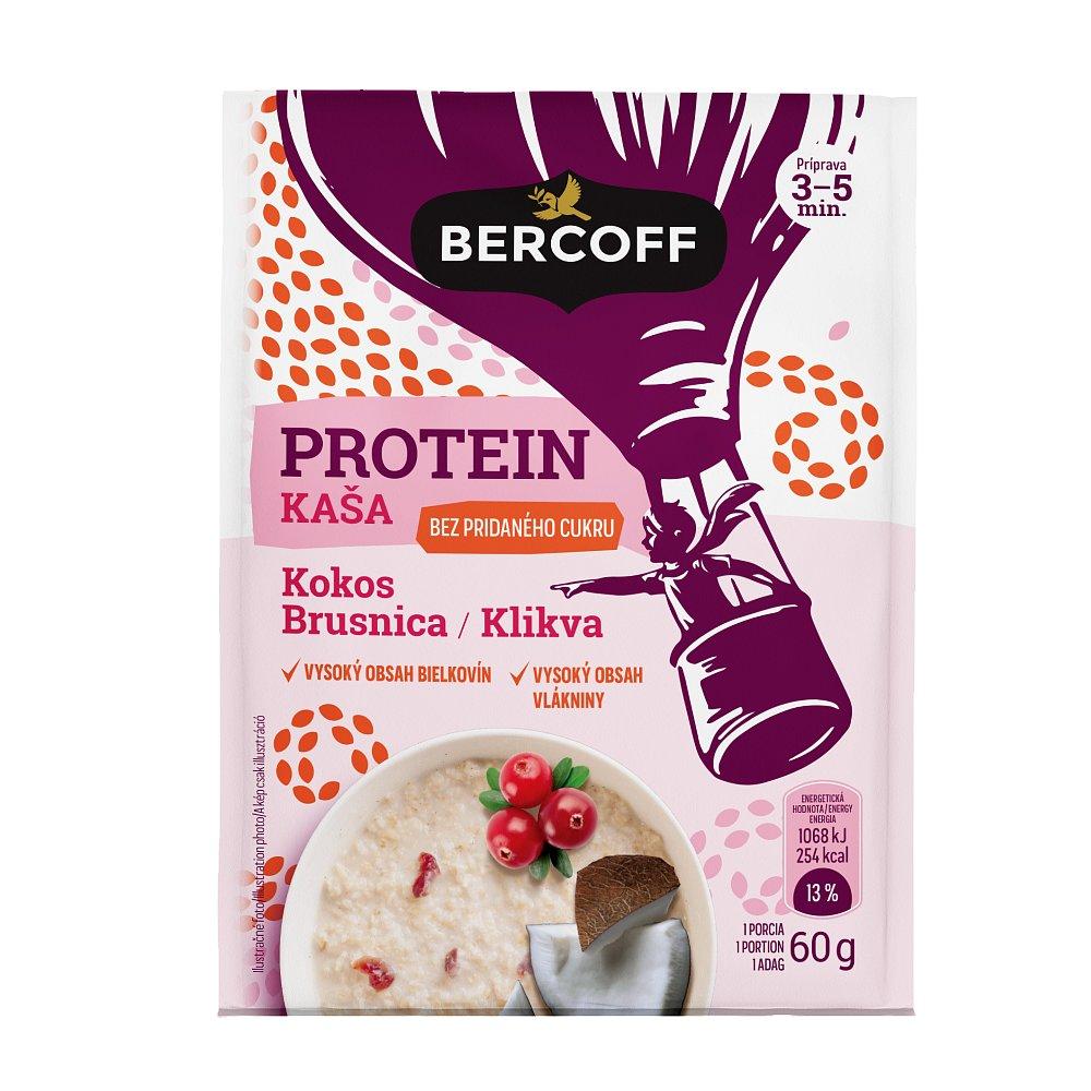 BERCOFF KLEMBER Proteinová kaše Kokos Klikva 60 g