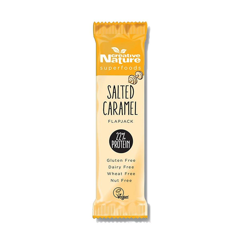 CREATIVE NATURE Protein Flapjack slaný karamel 40g