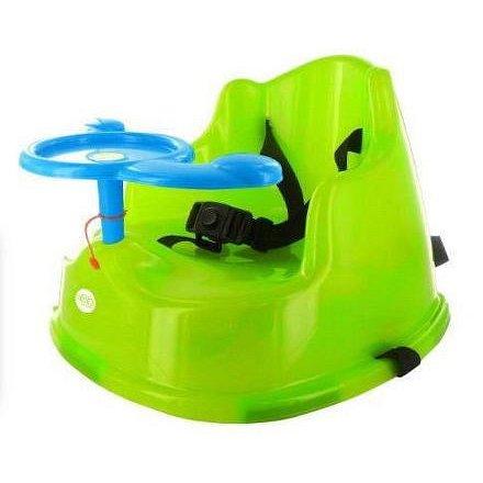 dBb Jídelní podsedák s volantem, zelený