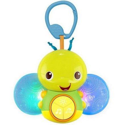 Hračka svítící včelka s melodií na C-kroužku Beaming Buggie™ 0m+