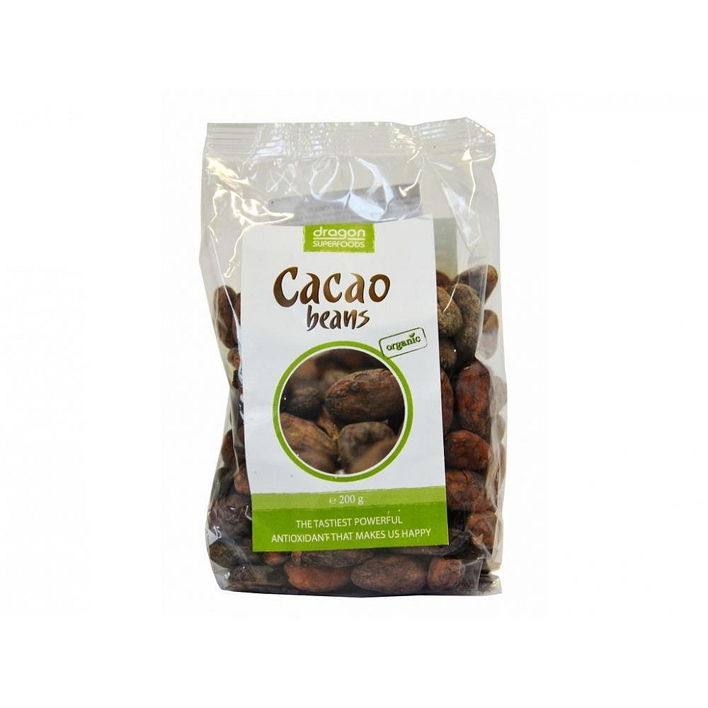 Kakaové boby celé nepražené 200g BIO