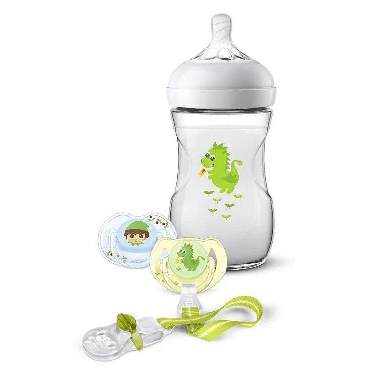 Philips AVENT Sada Natural 260 ml drak zelená