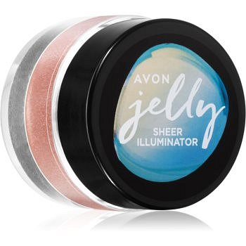 Avon Jelly rozjasňovač na obličej a tělo odstín Rose Glow 10 g