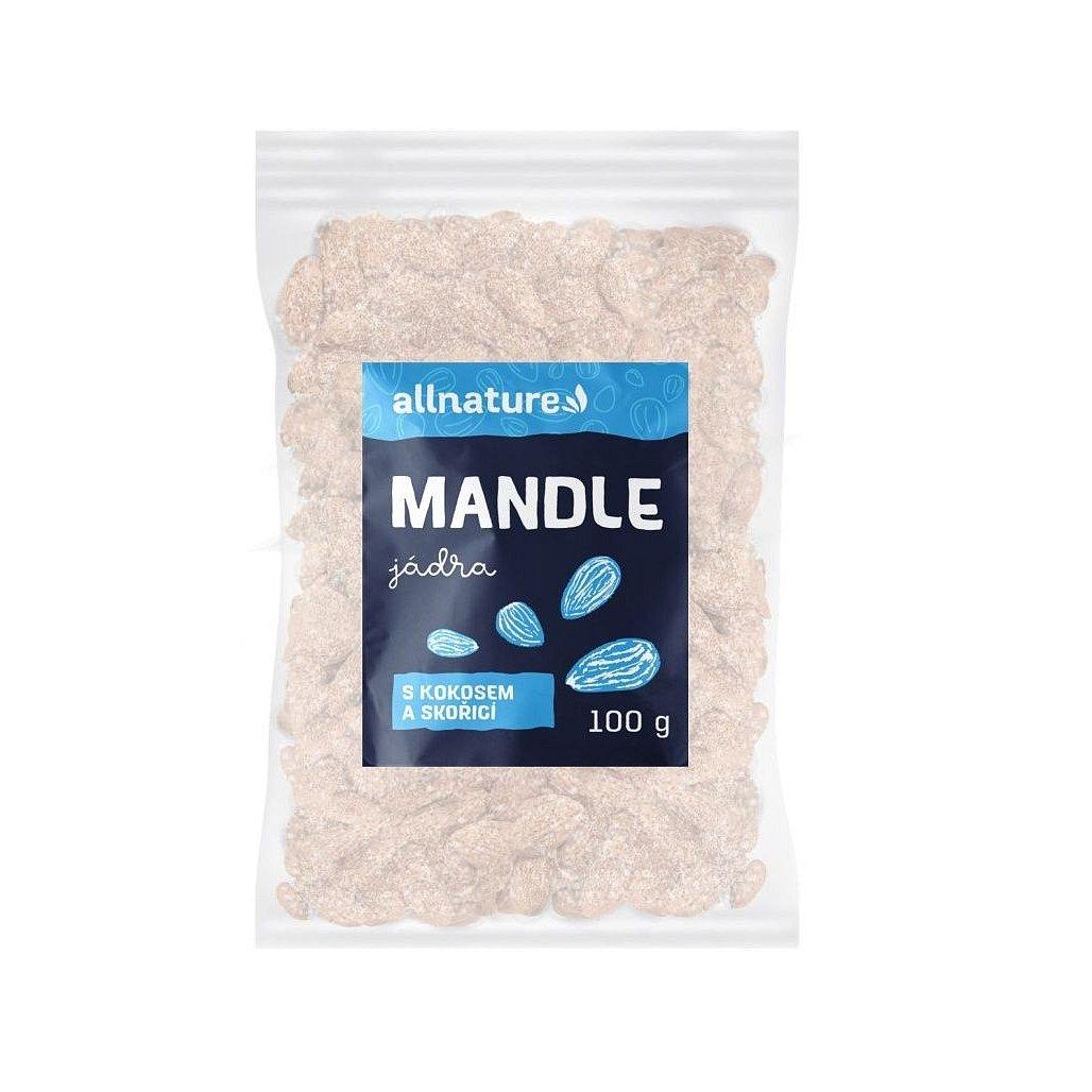 Allnature Mandle s kokosem a skořicí 100 g