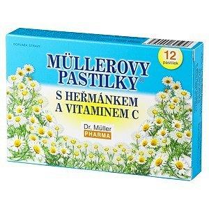 Müllerovy pastilky s heřmánkem 12ks