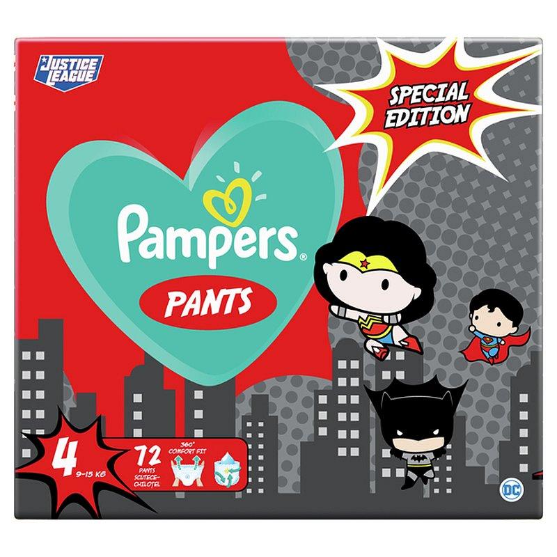 PAMPERS Plenkové kalhotky Pants vel. 4, 72 ks, 9-15 kg