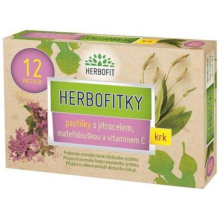 Herbofitky s jitrocelem a vit.C 12 pastilek