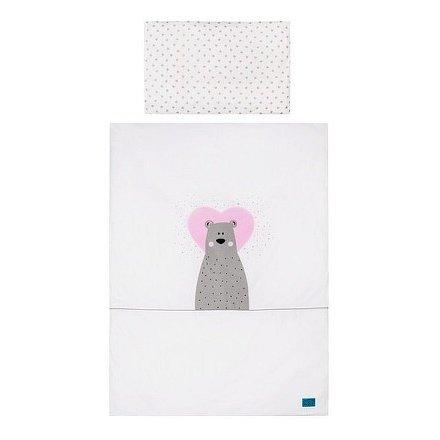 2-dílné ložní povlečení Belisima Bear in love 100/135 růžové