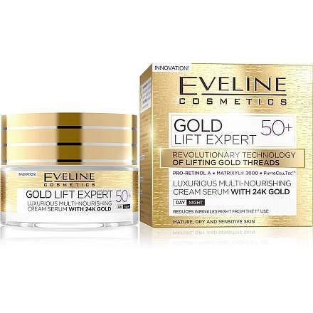 EVELINE GOLD LIFT Expert Denní/Noční krém 50+ 50ml