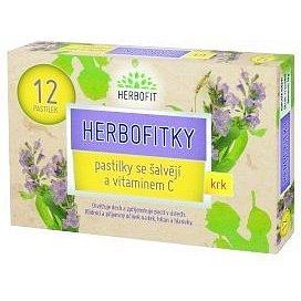 Herbofitky se šalvějí a vitamínem C 12 pastilek