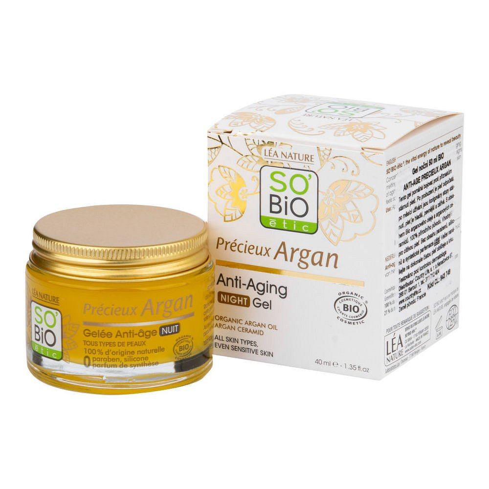 SO´BIO étic Gel noční Anti-age Precieux Argan BIO 50ml