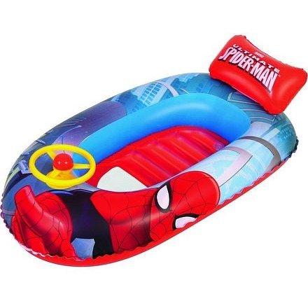 Dětský nafukovací člun s volantem Best Way Spider Man