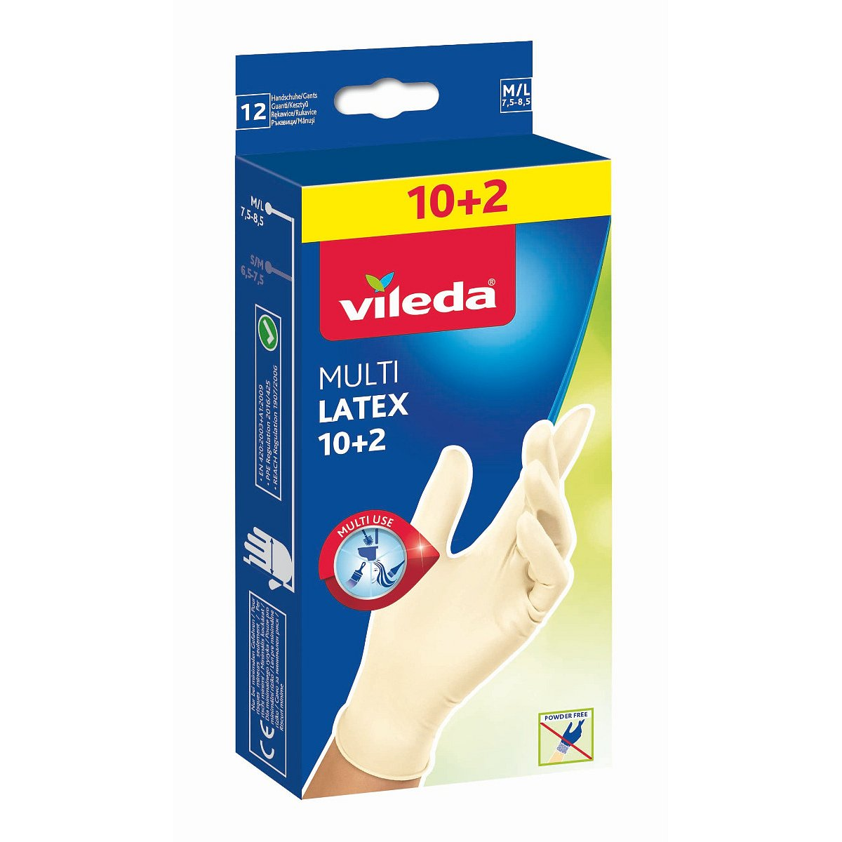 Vileda MultiLatex vel. M/L rukavice 10+2 ks