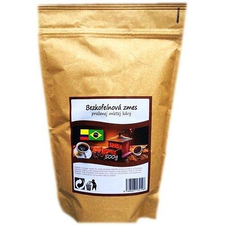 Bezkofeinová pražená zrnková káva 500g