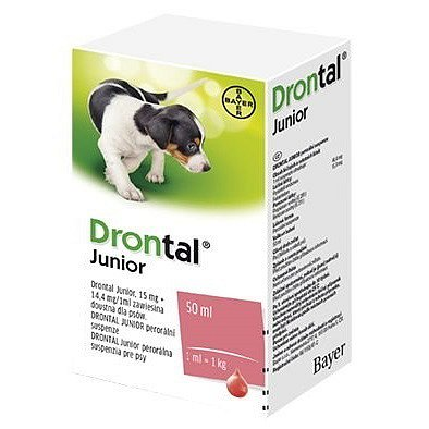 Drontal JUNIOR suspenze 50 ml + aplikátor