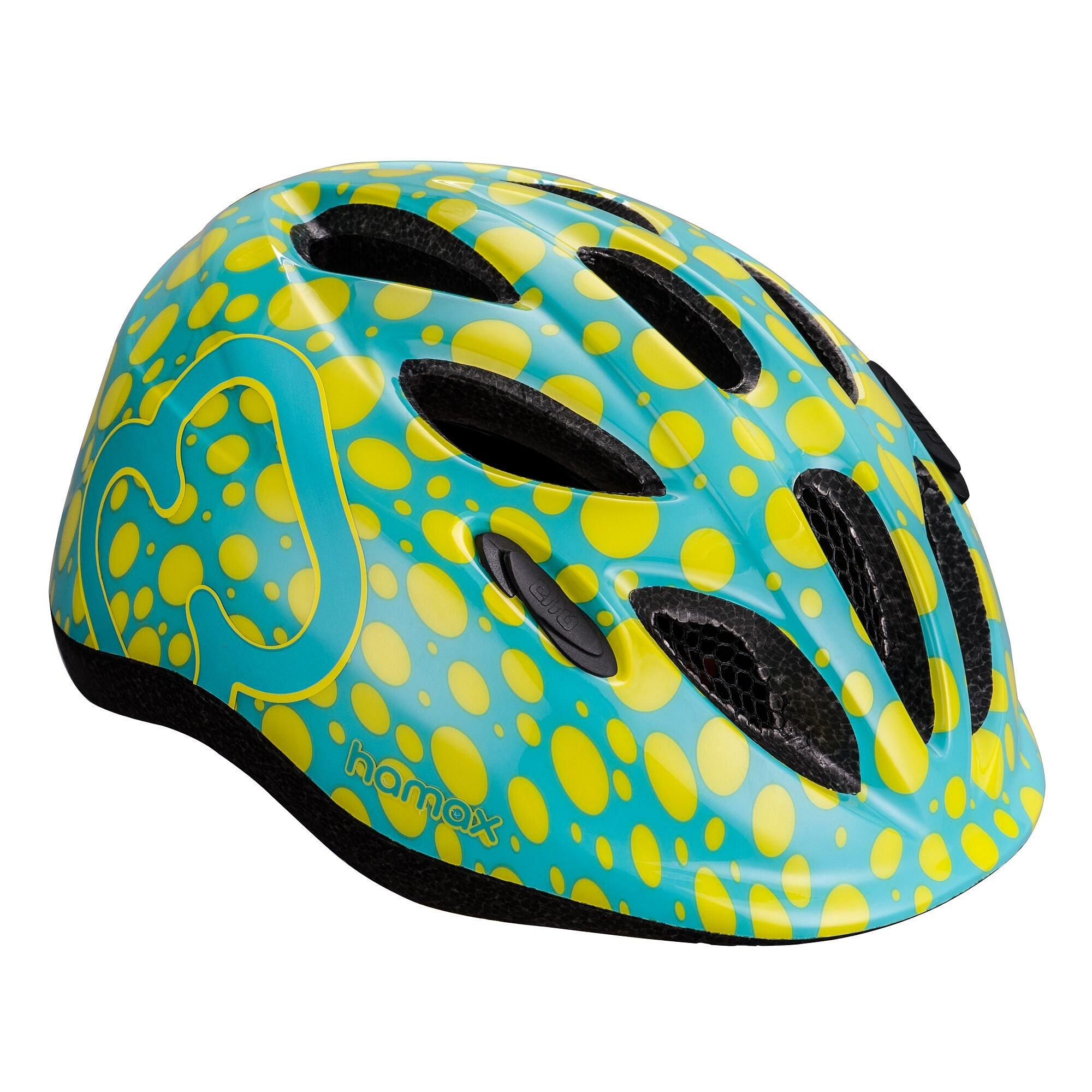 HAMAX Skydive cyklohelma 45-50 - zelenožlutá / žluté pásky