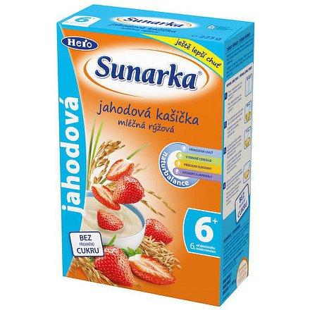 Sunarka jahodová kašička mléčná 225g
