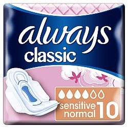 Always vložky Classic Normal Sensitive 10ks