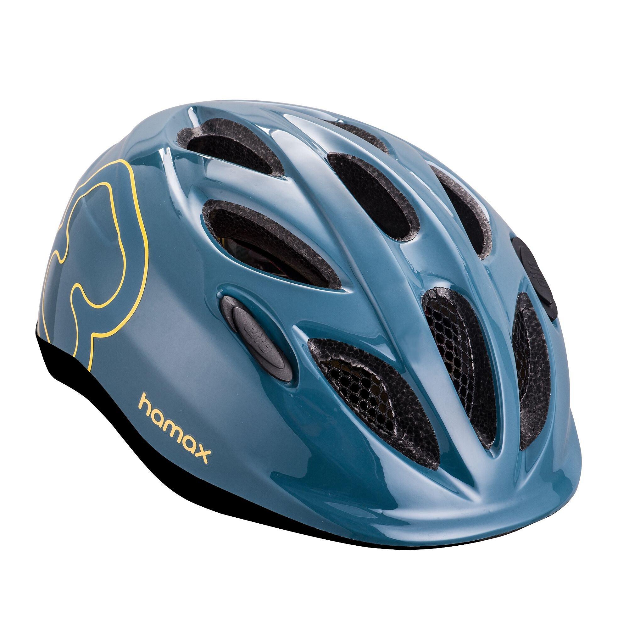 HAMAX Skydive cyklohelma 45-50 - modrá / žluté pásky