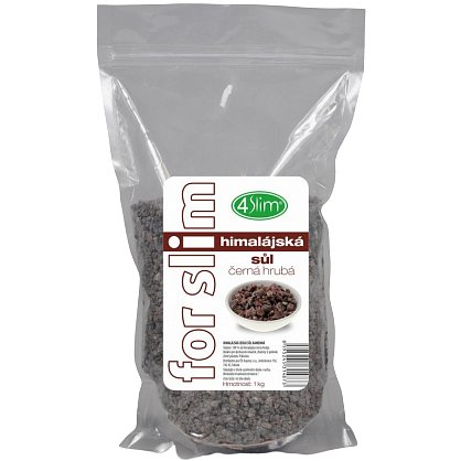 4slim Himalájská sůl černá hrubá 1kg