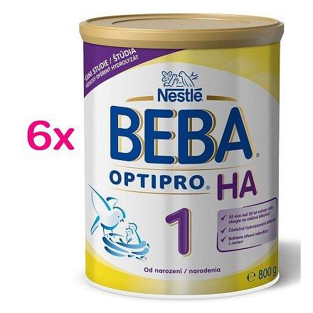 Nestlé BEBA Optipro HA 1, od narození, 6 x 800g plech
