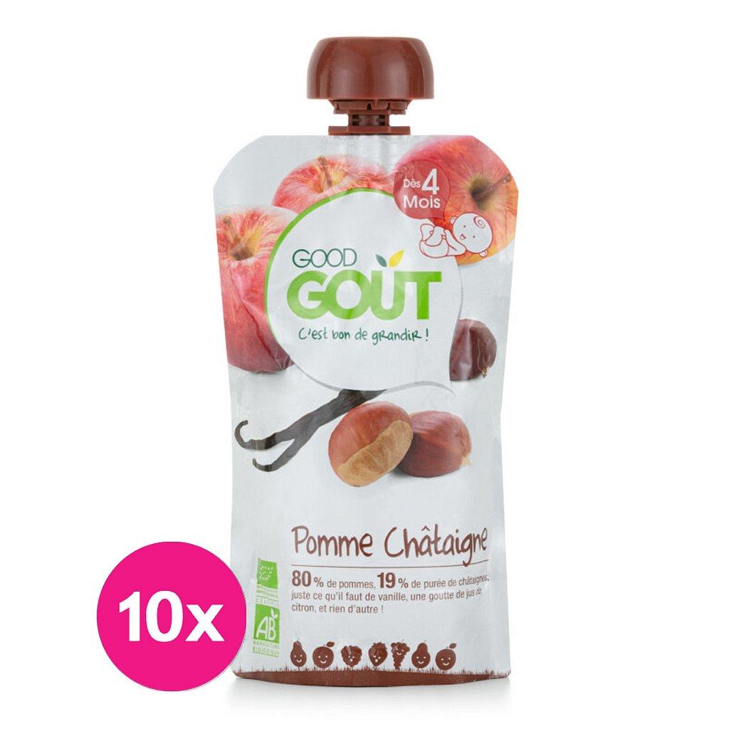 10x GOOD GOUT BIO Jablko s kaštanem a vanilkou 120 g
